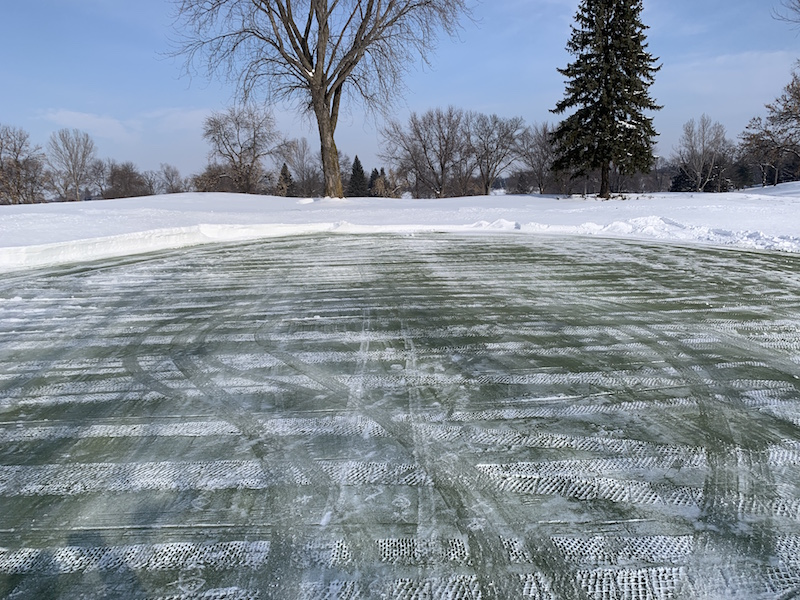 Island View Golf Club snow removed from greens